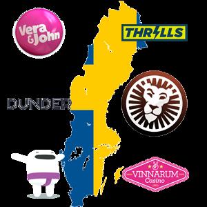 Casinon med svensk spellicens
